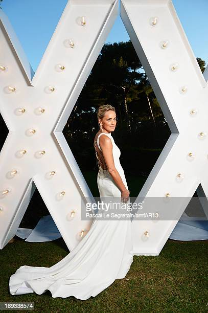 Sharon Stone attends amfAR's 20th Annual Cinema Against AIDS during The 66th Annual Cannes Film Festival at Hotel du CapEdenRoc on May 23 2013 in Cap...
