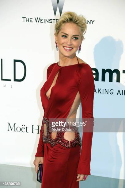 Sharon Stone attends amfAR's 21st Cinema Against AIDS Gala, Presented By WORLDVIEW, BOLD FILMS, And BVLGARI at the 67th Annual Cannes Film Festival...