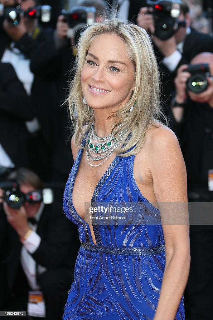 Sharon Stone attends 'Behind The Candelabra' Premiere during The 66th Annual Cannes Film Festival on May 21, 2013 in Cannes, France.