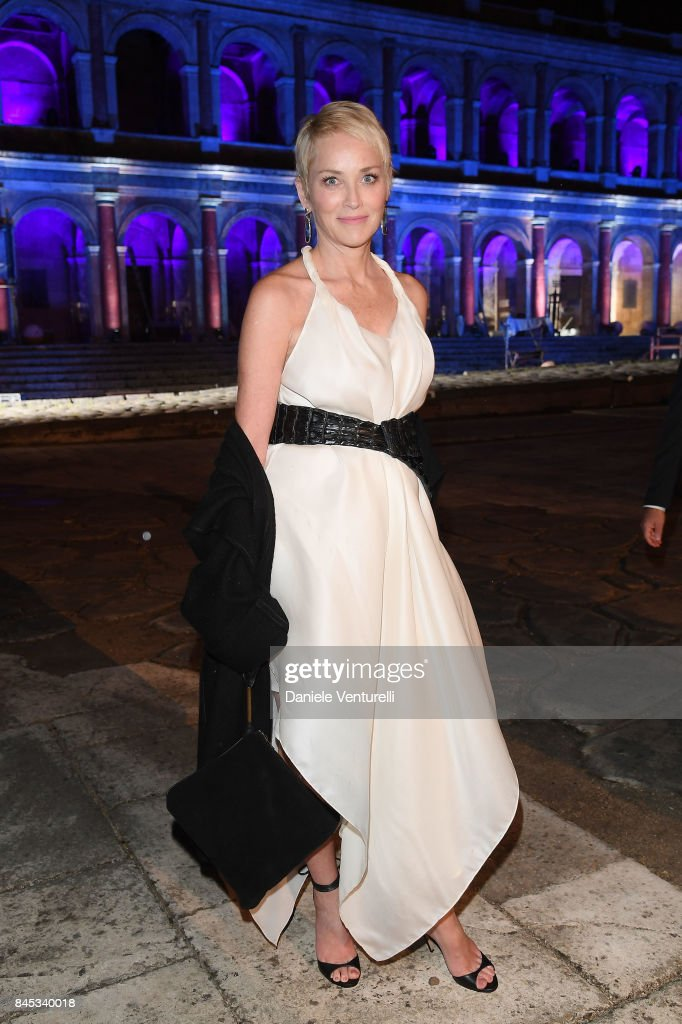 Sharon Stone attends Celebrity Fight Night on September 10, 2017 in Rome, Italy.