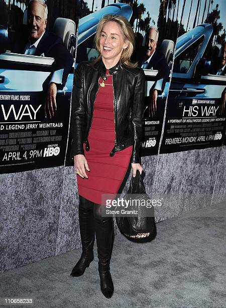 Sharon Stone attends HBO's 'His Way' Los Angeles Premiere at Paramount Theater on the Paramount Studios lot on March 22 2011 in Hollywood California