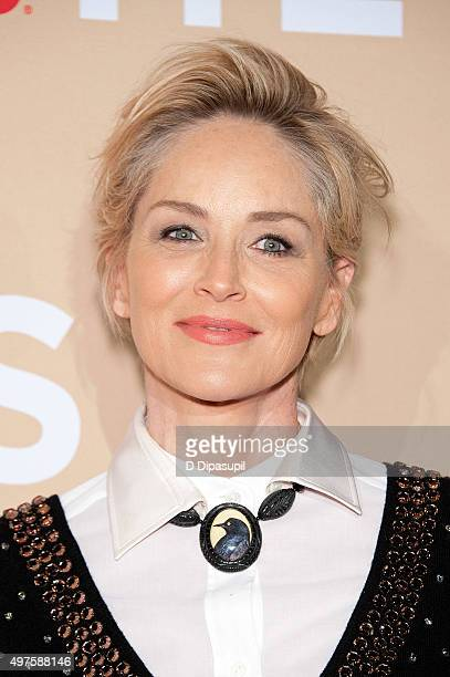 Sharon Stone attends the 2015 CNN Heroes An AllStar Tribute at the American Museum of Natural History on November 17 2015 in New York City