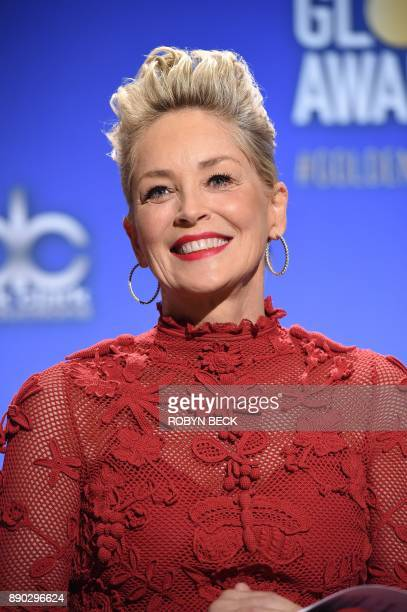 Sharon Stone attends the 75th Annual Golden Globe Awards nomination announcement, December 11 at the Beverly Hilton Hotel in Beverly Hills,...