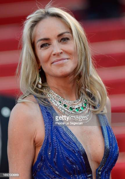 Sharon Stone attends the 'Behind The Candelabra' premiere during The 66th Annual Cannes Film Festival at Theatre Lumiere on May 21 2013 in Cannes...