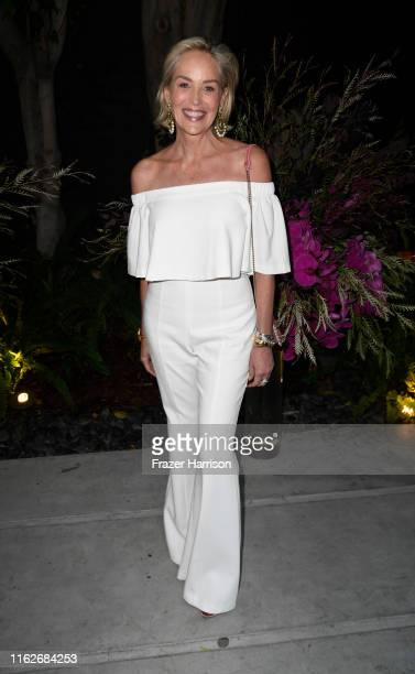 Sharon Stone attends the Brain Health Initiative 100th Anniversary Of Women's Suffrage Gala at Eric Buterbaugh Los Angeles on July 17, 2019 in Los...