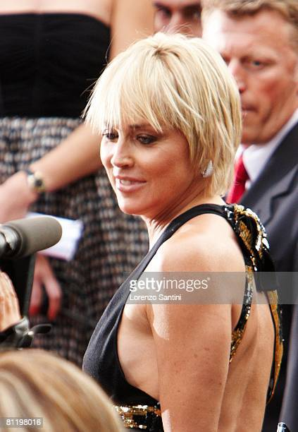 Sharon Stone attends the Che premiere at the Palais des Festivals during the 61st International Cannes Film Festival on May 21 2008 in Cannes France