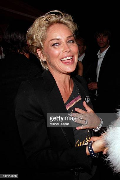 Sharon Stone attends the Dior Party at Eden Roc Hotel during the 61st International Cannes Film Festival on May 23, 2008 in Cannes, France.