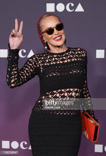 Sharon Stone attends the MOCA Benefit 2019 at The Geffen Contemporary at MOCA on May 18, 2019 in Los Angeles, California.