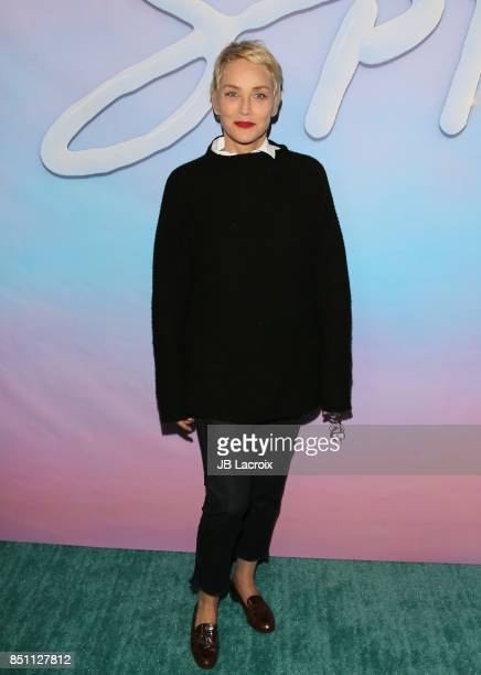 Sharon Stone attends the premiere of Alex Israel's 'SPF18' on September 21 2017 in Los Angeles California