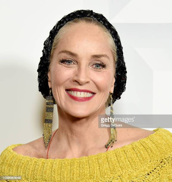 """Sharon Stone attends the Premiere Of Vertical Entertainment's """"Pimp"""" at Pacific Theatres at The Grove on November 7, 2018 in Los Angeles, California."""