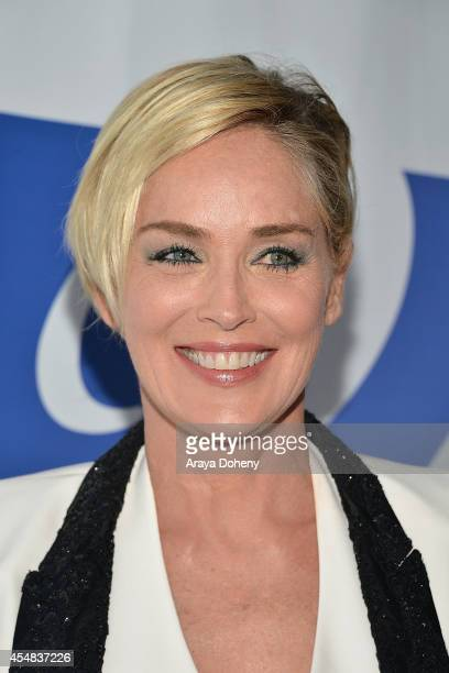 Sharon Stone attends the Project Angel Food's 25th Anniversary Angel Awards 2014, honoring Aileen Getty with the Inaugural Elizabeth Taylor...