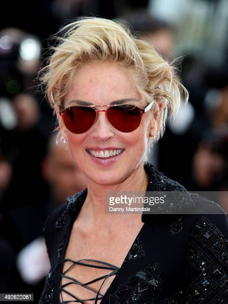 Sharon Stone attends The Search Premiere at the 67th Annual Cannes Film Festival on May 21 2014 in Cannes France