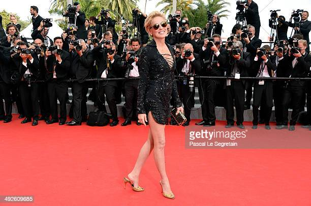 """Sharon Stone attends """"The Search"""" premiere during the 67th Annual Cannes Film Festival on May 21, 2014 in Cannes, France."""