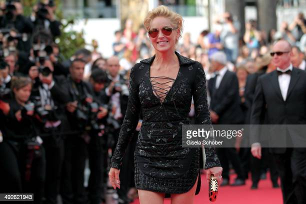 Sharon Stone attends The Search premiere during the 67th Annual Cannes Film Festival on May 21 2014 in Cannes France