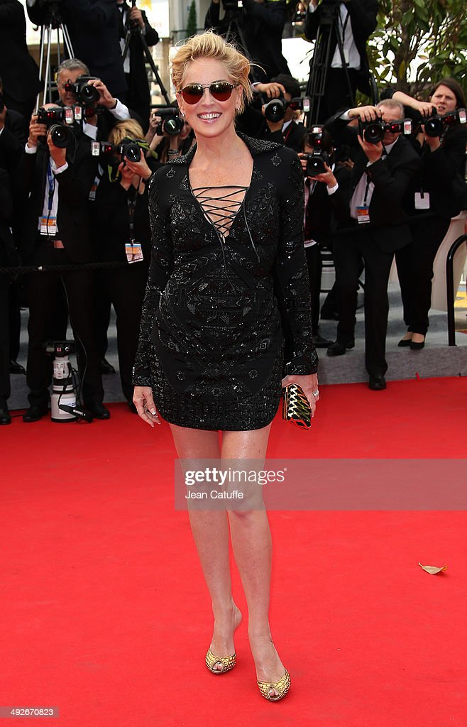 Sharon Stone attends 'The Search' premiere during the 67th Annual Cannes Film Festival on May 21, 2014 in Cannes, France.