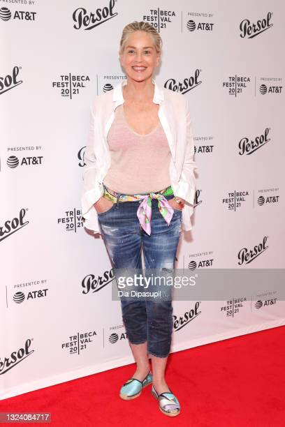 Sharon Stone attends the Tribeca Festival Awards Night during the 2021 Tribeca Festival at Spring Studios on June 17, 2021 in New York City.