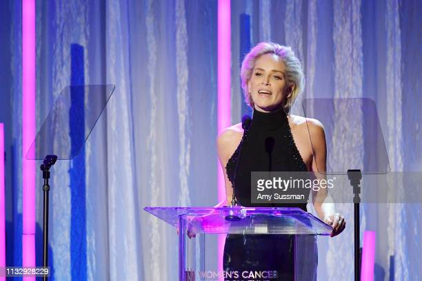 Sharon Stone attends The Women's Cancer Research Fund's An Unforgettable Evening Benefit at the Beverly Wilshire Four Seasons Hotel on February 28,...