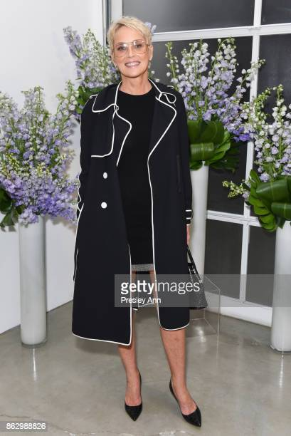 Sharon Stone attends VIP Conversation for Women's Brain Health Initiative Hosted by Sharon Stone at Gagosian Gallery on October 18 2017 in Beverly...