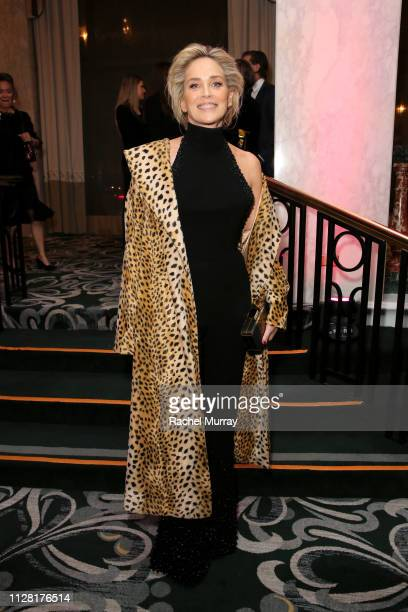"""Sharon Stone attends WCRF's """"An Unforgettable Evening"""" at the Beverly Wilshire Four Seasons Hotel on February 28, 2019 in Beverly Hills, California."""