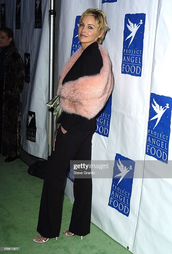 Sharon Stone during 11th Annual Angel Awards - Arrivals at Project Angel Food in Los Angeles, California, United States.