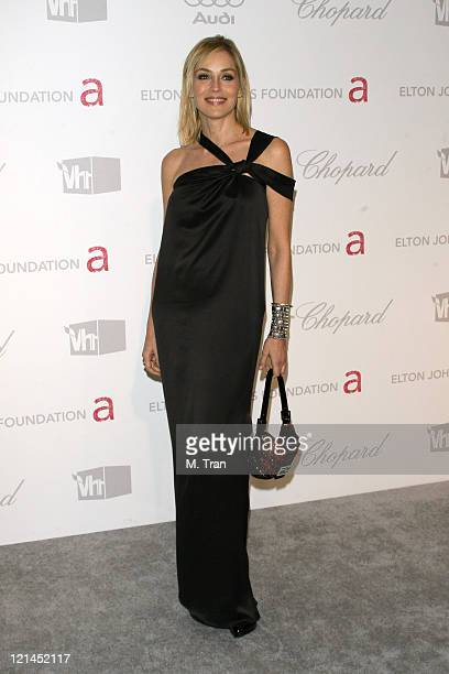 Sharon Stone during 15th Annual Elton John AIDS Foundation Oscar Party at Pacific Design Center in Los Angeles California United States