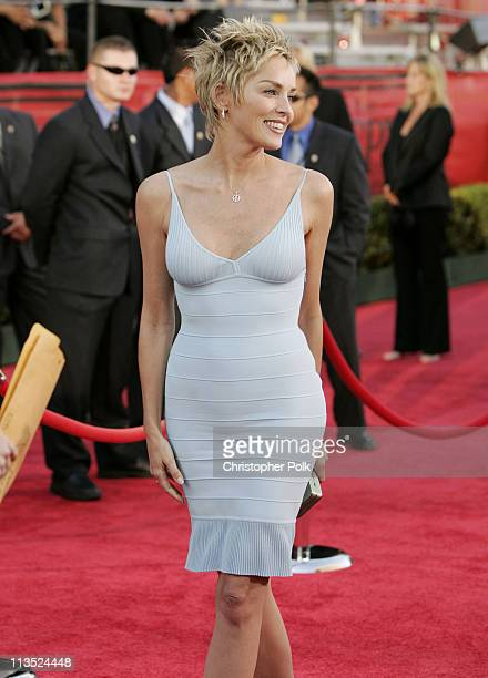 Sharon Stone during 2004 ESPY Awards Arrivals at Kodak Theatre in Hollywood California United States