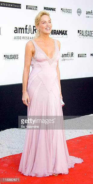 Sharon Stone during 2005 Cannes Film Festival AmFar Party Arrivals in Cannes France
