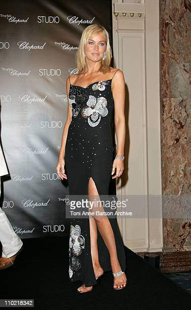 Sharon Stone during 2005 Cannes Film Festival Chopard Trophy Awards Photocall at Carlton Hotel in Cannes France