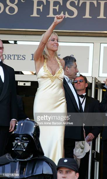 Sharon Stone during 2005 Cannes Film Festival 'Star Wars Episode III Revenge of the Sith' Premiere in Cannes France