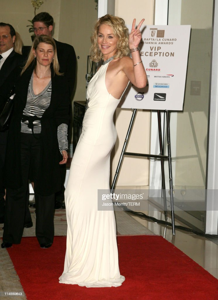 Sharon Stone during 2006 BAFTA/LA Cunard Britannia Awards - Arrivals at Hyatt Regency Century Plaza Hotel in Los Angeles, California, United States.