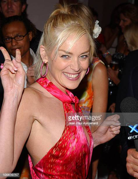 Sharon Stone during 6th Annual Lupus Gala Arrivals at Beverly Hills Hotel in Beverly Hills California United States