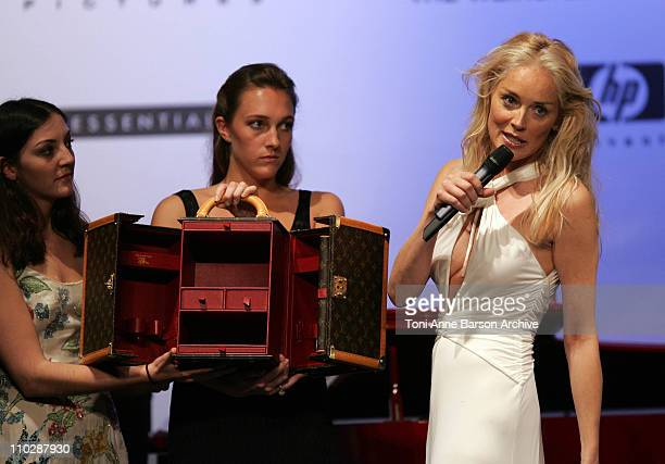 Sharon Stone during amfAR's Cinema Against AIDS Benefit in Cannes, Presented by Bold Films, Palisades Pictures and The Weinstein Company - Show at...