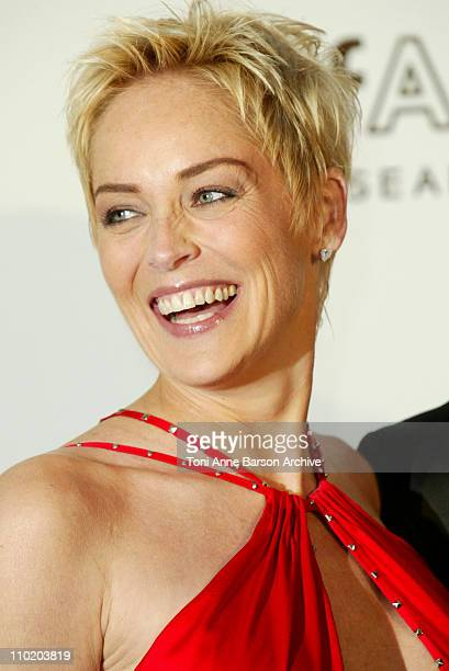 """Sharon Stone during amfAR's """"Cinema Against AIDS Cannes"""" Benefit Sponsored by Miramax and Quintessentially - Arrivals at Moulin De Mougins in Cannes,..."""