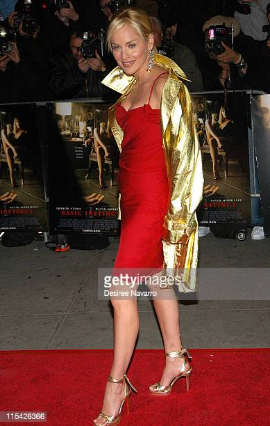 Sharon Stone during Basic Instinct 2 New York City Premiere Arrivals at AMC Lincoln Square Theatre in New York City New York United States