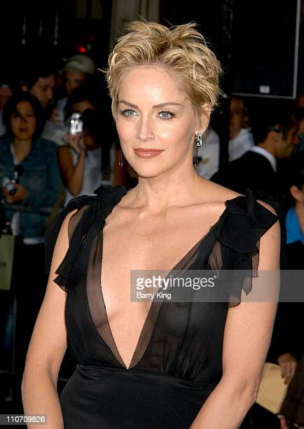Sharon Stone during 'Cold Creek Manor' Premiere at El Capitan Theatre in Hollywood California United States