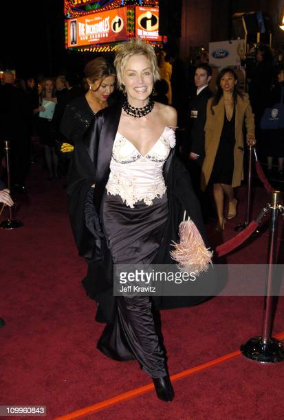 Sharon Stone during Ocean's Twelve Los Angeles Premiere Arrivals at Grauman's Chineese Theater in Los Angeles California United States