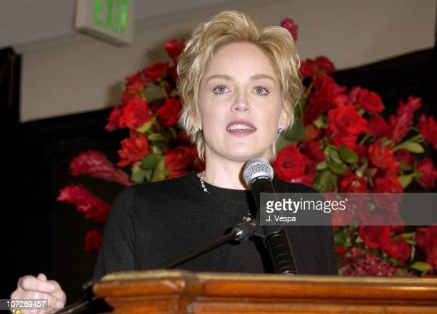 Sharon Stone during People Magazine and a Diamond is Forever Auction Never-Before-Seen Photos From Hollywood's Golden Age to benefit amfAR at...