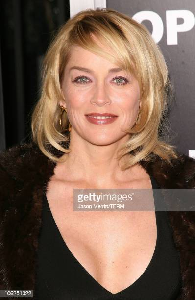 Sharon Stone during Rocky Balboa World Premiere Arrivals at Chinese Theatre in Hollywood California United States