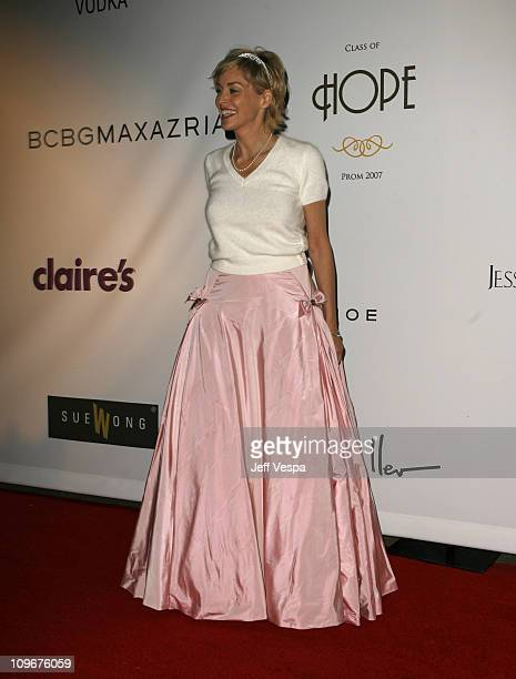 Sharon Stone during Sharon Stone and Kelly Stone Host the 1st Annual 'Class of Hope Prom 2007' Charity Benefit Red Carpet and Inside at Sportsmen's...