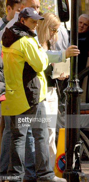Sharon Stone during Sharon Stone on Location for 'Basic Instinct 2 Risk Addiction' April 27 2005 at South West London in London Great Britain