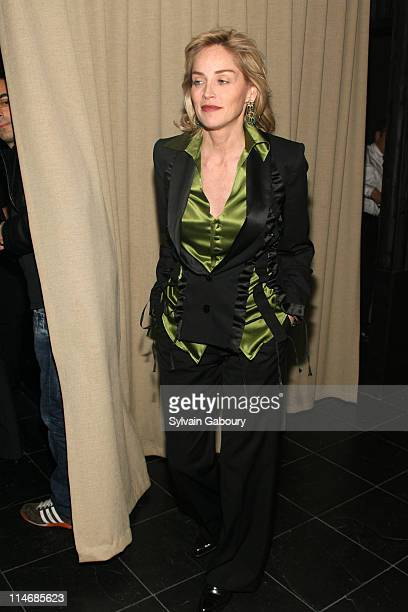 Sharon Stone during The Cinema Society and Calvin Klein Host a Screening of Factory Girl After Party at Gramercy Park Hotel at 2 Lexington Avenue in...