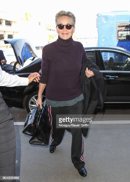 Sharon Stone is seen on January 12 2018 in Los Angeles California