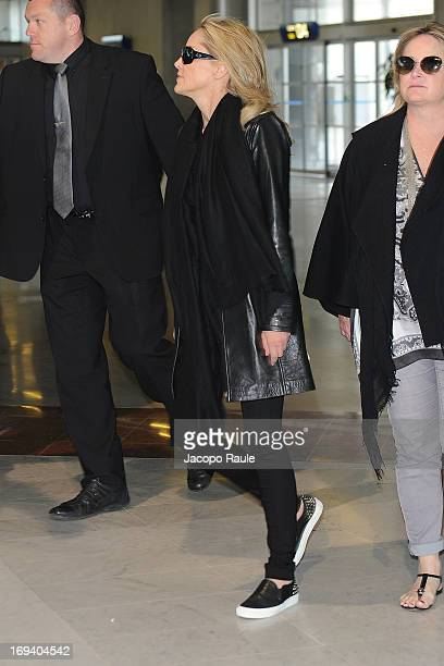 Sharon Stone is sighted at Nice airport as she departs after attending the 66th Annual Cannes Film Festival on May 24 2013 in Nice France