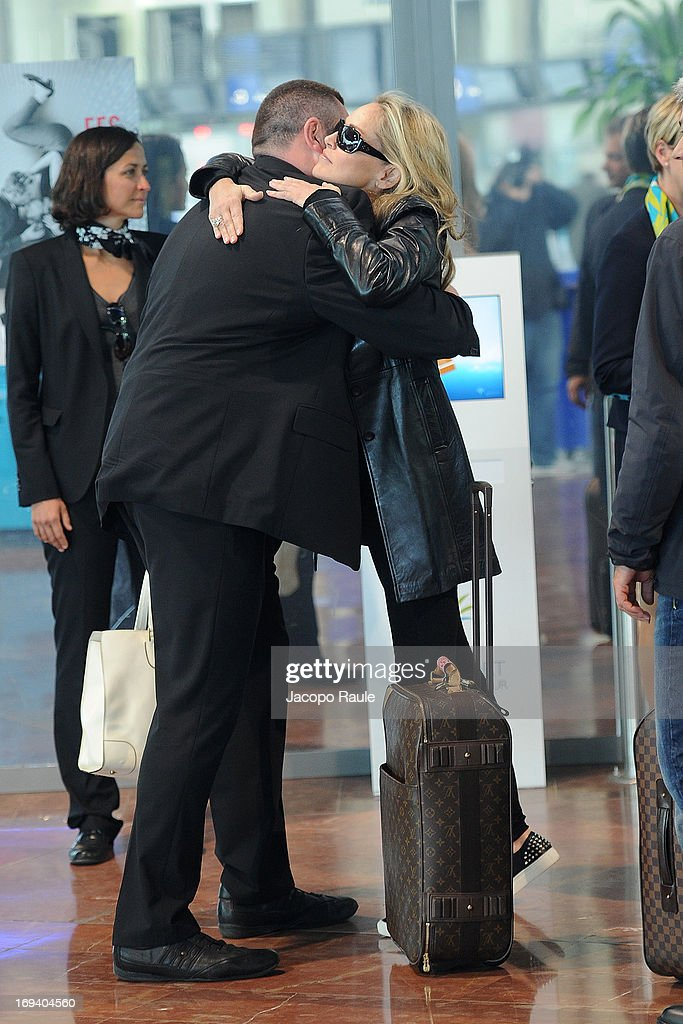 Sharon Stone is sighted at Nice airport as she departs after attending the 66th Annual Cannes Film Festival on May 24, 2013 in Nice, France.