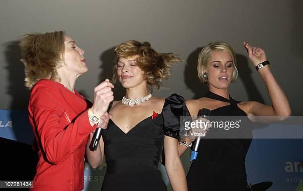 Sharon Stone, Milla Jovovich and Rebecca Romijn Stamos