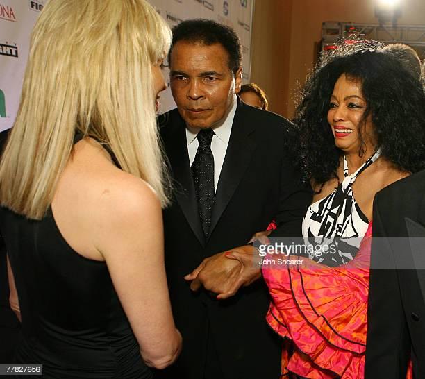 Sharon Stone Muhammad Ali and Diana Ross