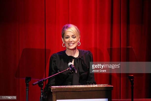 Sharon Stone presenter during Hamilton Hollywood Life Present the Behind the Camera Awards Show at The Highlands in Hollywood California United States