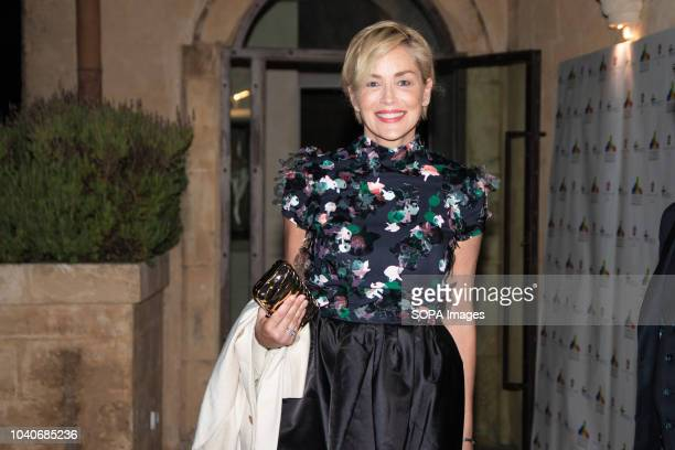 MATERA ITALY MATERA ITALY Sharon Stone seen during her visit to Matera The actress attended a fundraising charity dinner at the personal invitation...