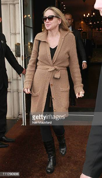Sharon Stone sighted leaving her hotel on March 31 2011 in London England