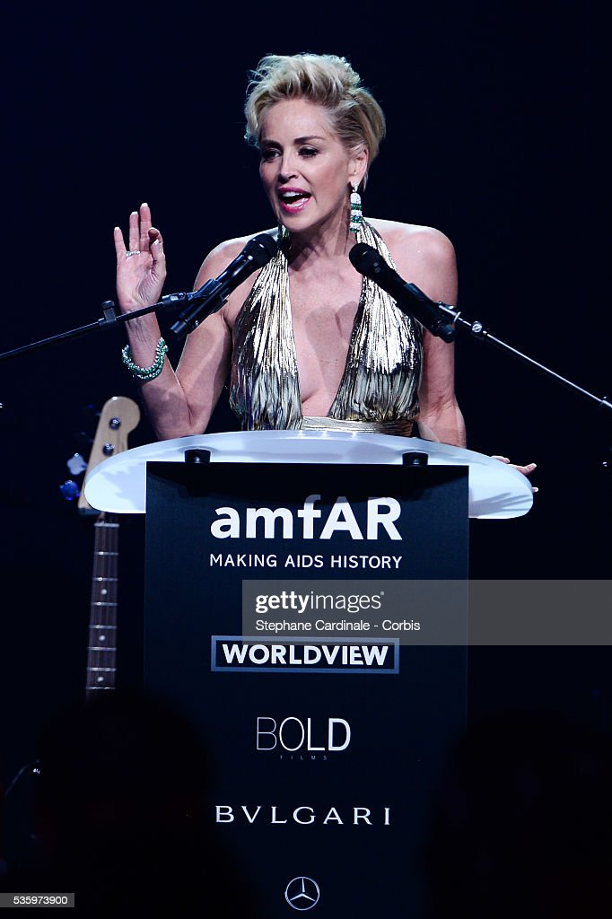 Sharon Stone the amfAR's 21st Cinema Against AIDS Gala at Hotel du Cap-Eden-Roc during the 67th Cannes Film Festival